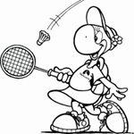 Ausmalbild Caatje - Badminton spielen