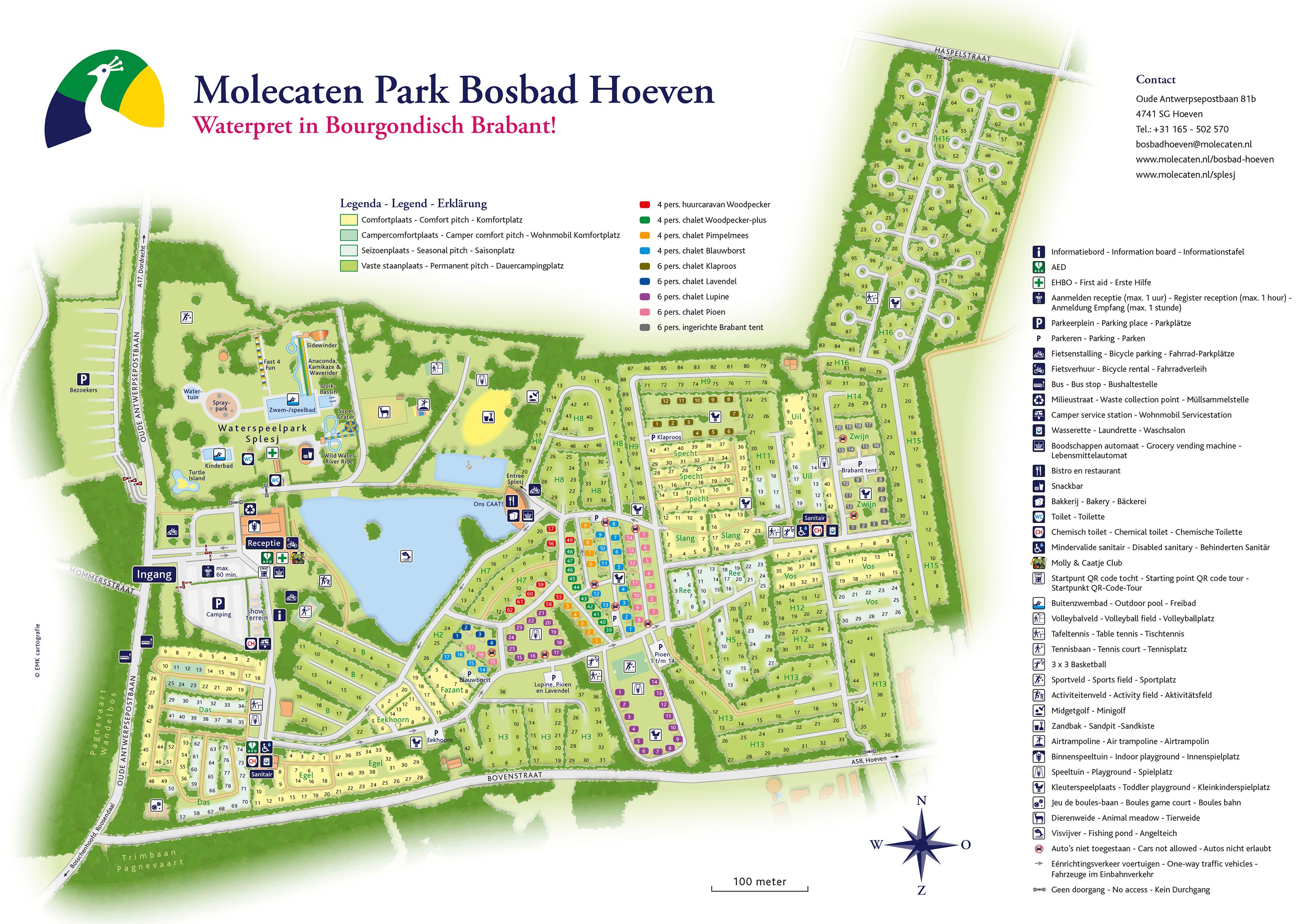 Molecaten Park Bosbad Hoeven accommodation.parkmap.alttext