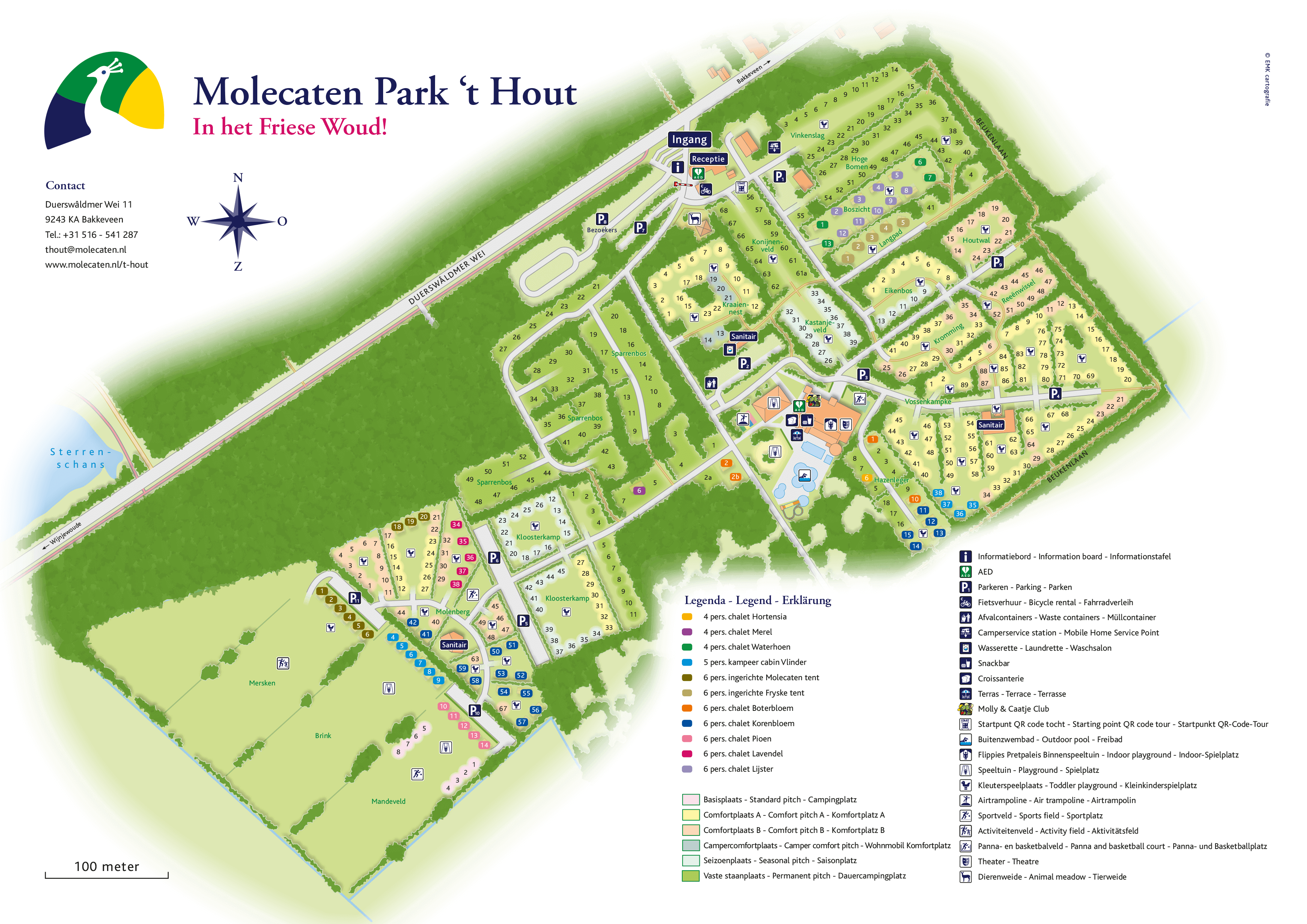 Molecaten Park 't Hout accommodation.parkmap.alttext