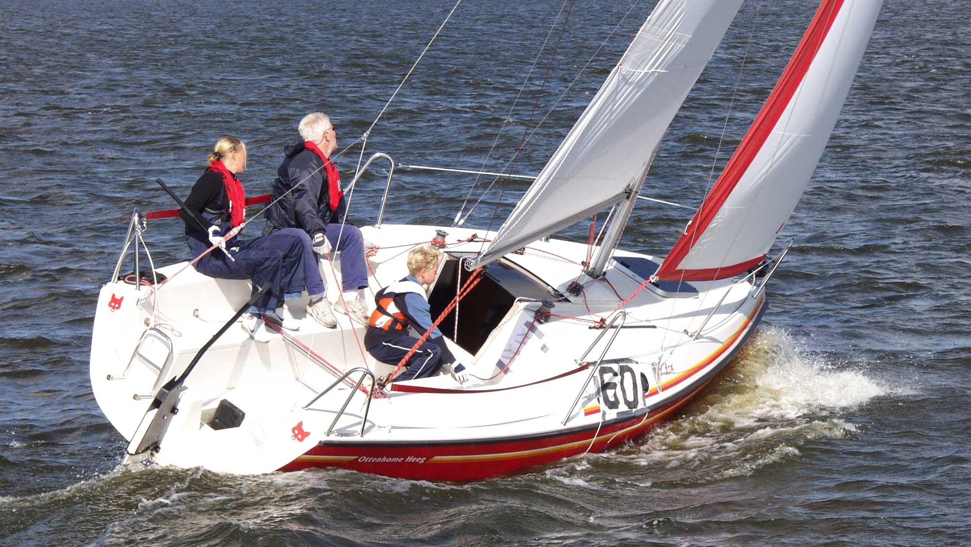 Zeilschool De Randmeren Molecaten Park Flevostrand 11 zeilles bootverhuur Fox